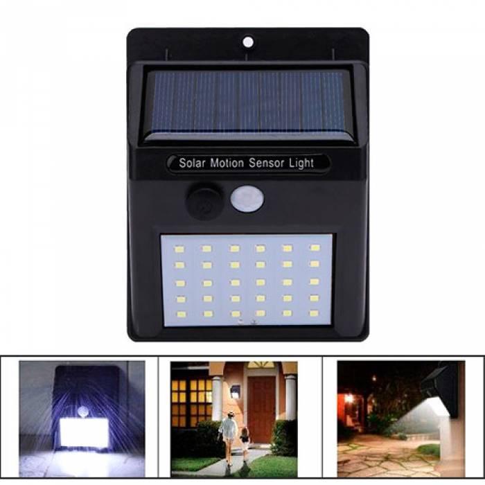 Уличный LED фонарь светильник на солнечной батарее, настенный