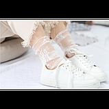 Напівпрозорі шкарпетки з квітковим мереживом, фото 3