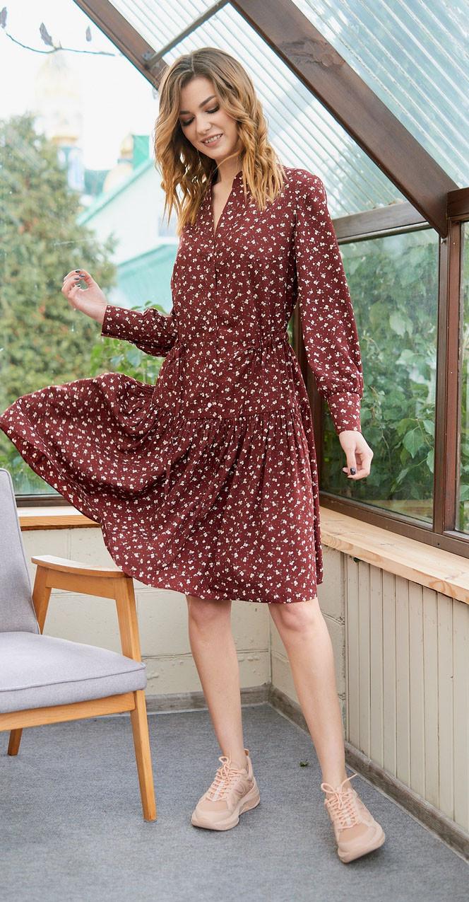 Платье Fantazia Mod-3700 белорусский трикотаж, бордо, 44