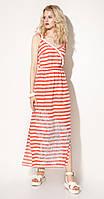 Платье Prio-714180 белорусский трикотаж, бело-красный, 42