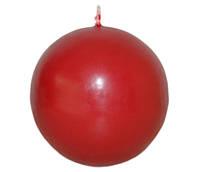 Свеча красная шар d -7 cm