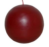 Свеча бордовая шар d -7 cm