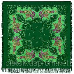 Рябина 352-9, павлопосадский платок шерстяной  с шерстяной бахромой