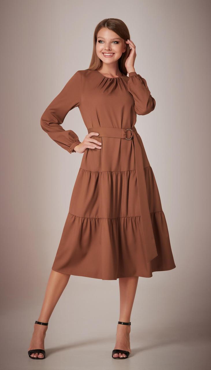 Платье Andrea Fashion-AF-28 /1 белорусский трикотаж, шоколад, 42