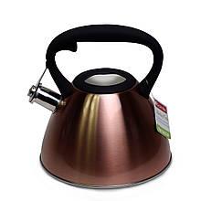Чайник Kamille из нержавеющей стали 3 л бронза (0651A)