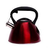 Чайник 3л (червоний) 0651C ТМ KAMILLE, фото 2