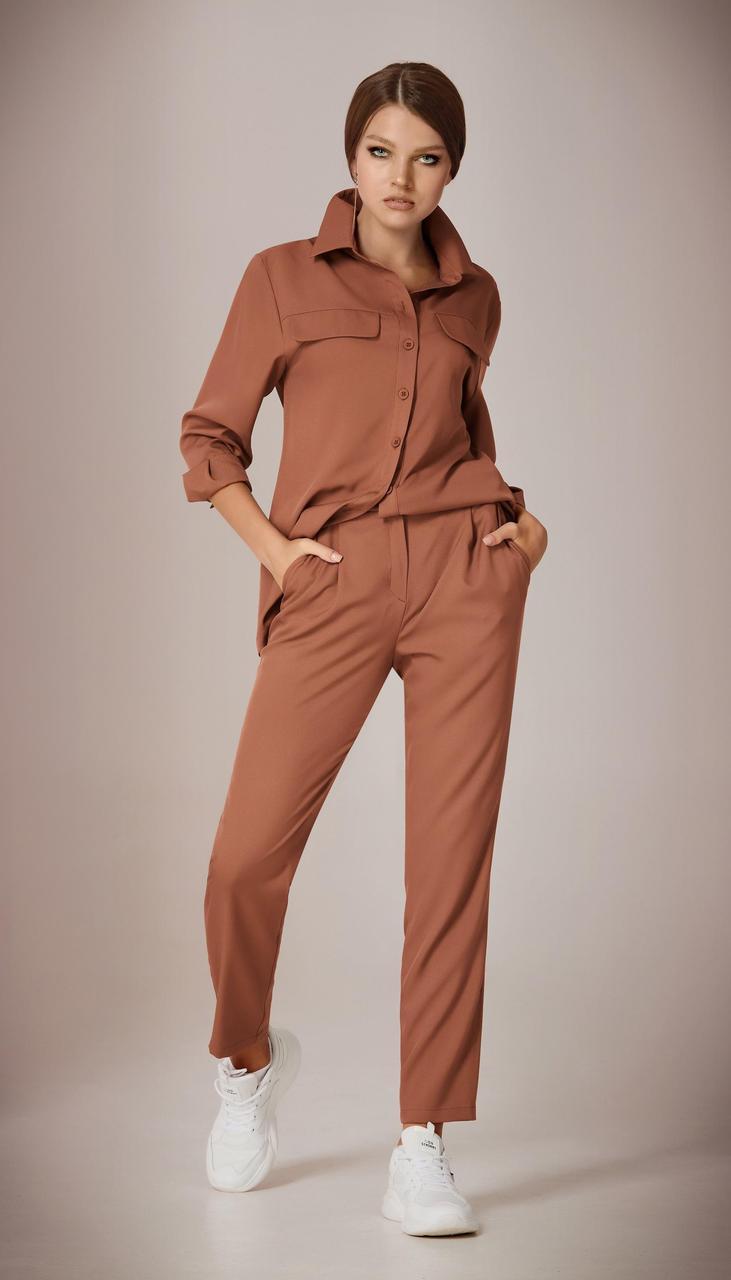 Костюм Andrea Fashion-AF-36 белорусский трикотаж, шоколад, 42