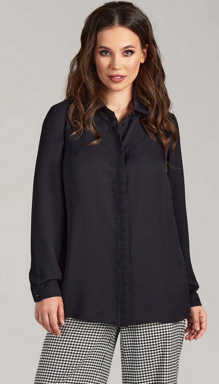 Блузка TEFFI style-1479 белорусский трикотаж, черный, 44