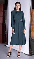 Платье Юрс-20-301-1 белорусский трикотаж, зеленый оттенок, 46, фото 1