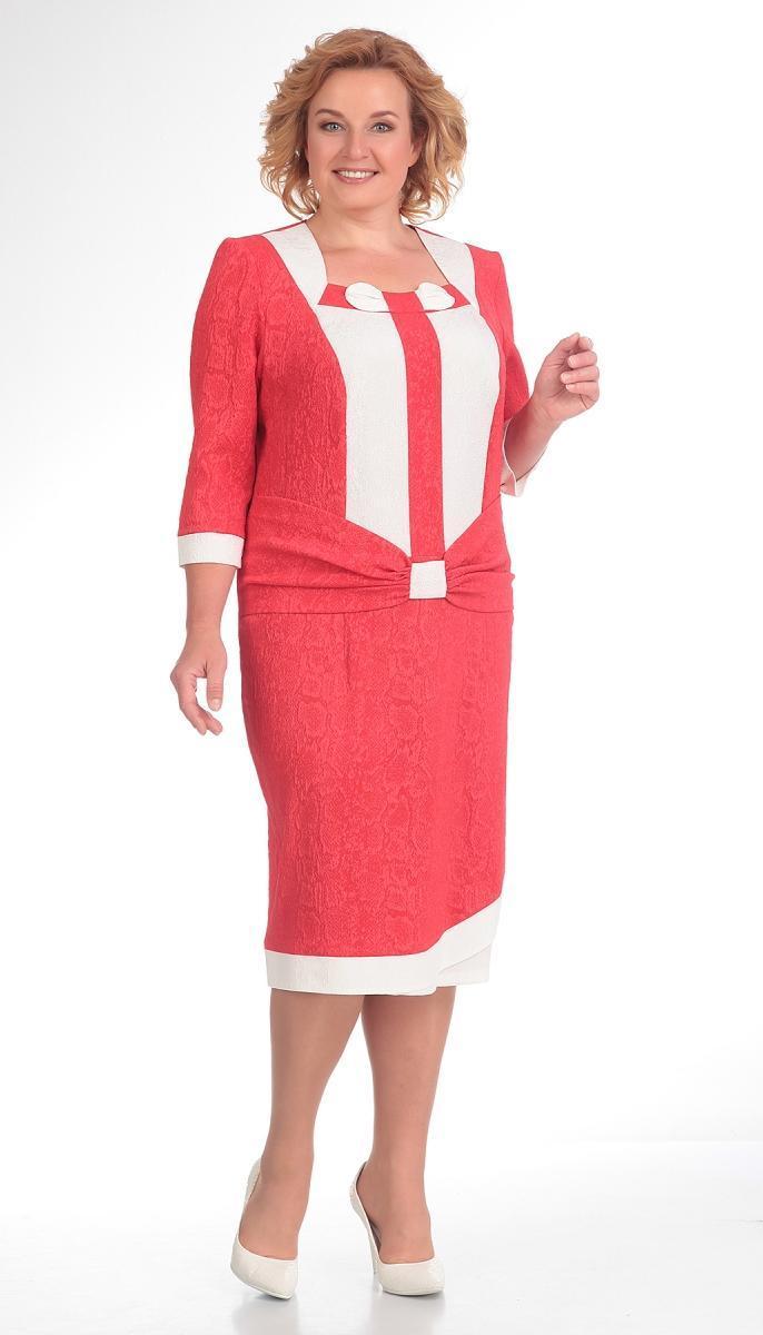 Платье Novella Sharm-2498 белорусский трикотаж, коралл, 54