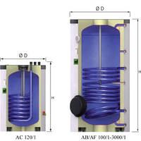 Бойлер косвенного нагрева 300 л. Емкостный водонагреватель Reflex Storatherm Aqua AB 300/1 в Одессе.