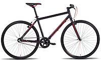 """Велосипед 28'' PRIDE BULLET рама - 20"""" черно-красный матовый 2016"""