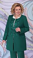 Жакет Ninele-5861/1 белорусский трикотаж, изумруд, 54