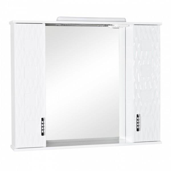 Зеркальный шкафчик с подсветкой Аква Родос Ассоль 100, 1020х170х870 мм