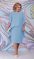 Платье Ninele-7298 белорусский трикотаж, голубой, 54