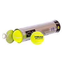 Тенісні м'ячі для великого тенісу Набір 4 шт. HEAD Гума Салатовий (571304)