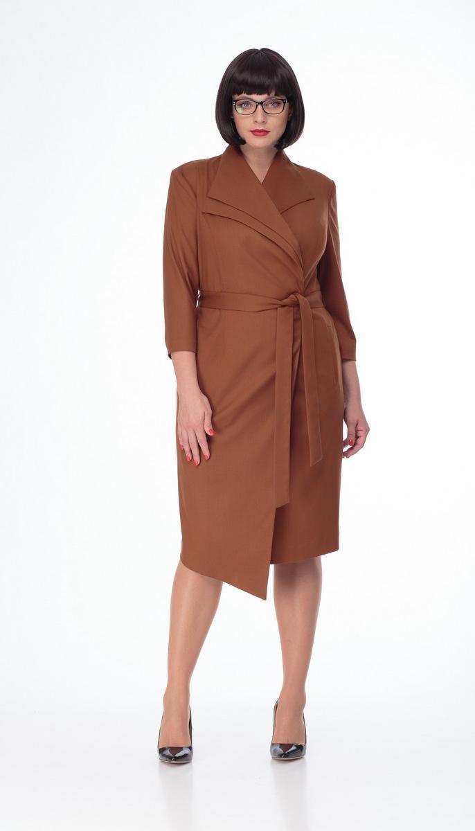 Платье Mali-4120/1 белорусский трикотаж, сиена, 50