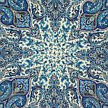 Мчить трійка 1896-12, павлопосадский хустку (шаль) з ущільненої вовни з шовковою бахромою в'язаній, фото 6