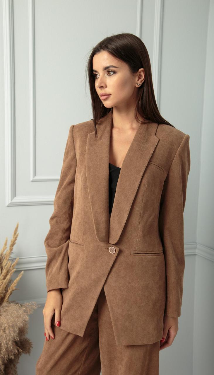 Жакет Sandyna-13828 белорусский трикотаж, песочно-коричневый, 44