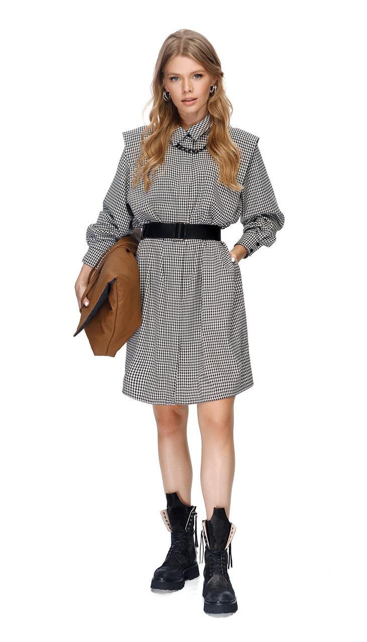 Платье PiRS-1412 белорусский трикотаж, гусиная лапка, 40