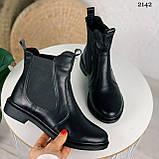 ТІЛЬКИ 40 р! Жіночі черевики ДЕМІ чорні з гумкою натуральна шкіра весна/ осінь, фото 4