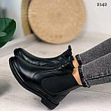 ТІЛЬКИ 40 р! Жіночі черевики ДЕМІ чорні з гумкою натуральна шкіра весна/ осінь, фото 3
