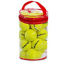 Тенісні м'ячі для великого тенісу Набір 24 шт. ODEAR Гума Жовтий (901-24)
