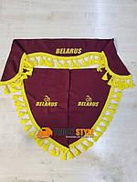 Ламбрекен на лобовое скло + 2 угокли Belarus Беларус МТЗ ( ламбрекены, шторы в кабину)