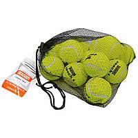 Теннисные мячи для большого тенниса Набор 12 шт. TELOON Резина войлок Салатовый (8010412)
