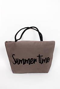 Пляжная сумка FAMO Сумка пляжная Брайон коричневая 51*35*15 (SYM-2025) #L/A