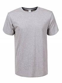 Чоловіча сіра однотонна футболка
