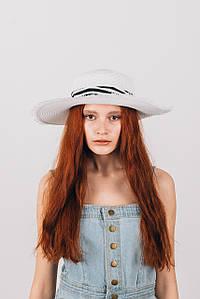 Крислатий капелюх FAMO крислатий Капелюх Альда біла 54-56 (SHL-1918) #L/A