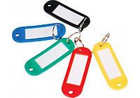 Брелок д/ключів пластиковий 60*22мм, асорті, Economix 41637