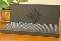 Доска Sadhu для стояния на гвоздях, с индивидуальной гравировкой для начинающих с шагом 1 см