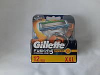 Касети для гоління Gillette Fusion Proglide Power 12шт. ( Жиллет Фюжин проглейд повер оригінал )