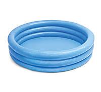 Детский надувной  бассейн Синий Кристал Intex 58426NP