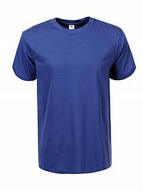 Синя футболка чоловіча однотонна