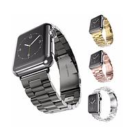 Универсальный металлический ремешок для Apple Watch Series 1/2/3/4 38-40мм/42-44мм Черный / Серебро