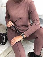 Костюм брючний із ангори жіночий КАПУЧІНО (ПОШТУЧНО), фото 1