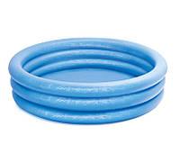Детский надувной  бассейн Синий Кристал Intex 58446NP