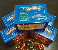 Праздничная новогодняя гирлянда Нить L500, 8 световых режимов, 500 лампочек