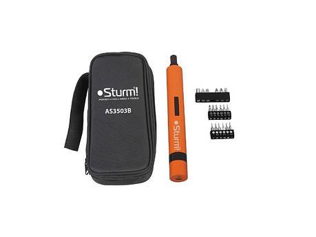 Аккумуляторная отвертка (3.6В, 1,5Ач, в сумке) Sturm AS3503B, фото 2