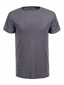 Чоловіча однотонна сіра футболка