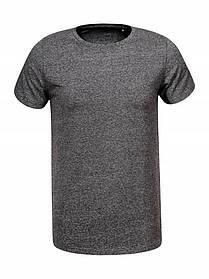 Однотонна сіра чоловіча футболка