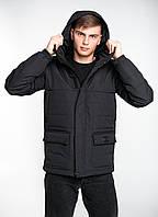 """Куртка парка чоловіча демісезонна """"Waterproof"""" Intruder Black"""