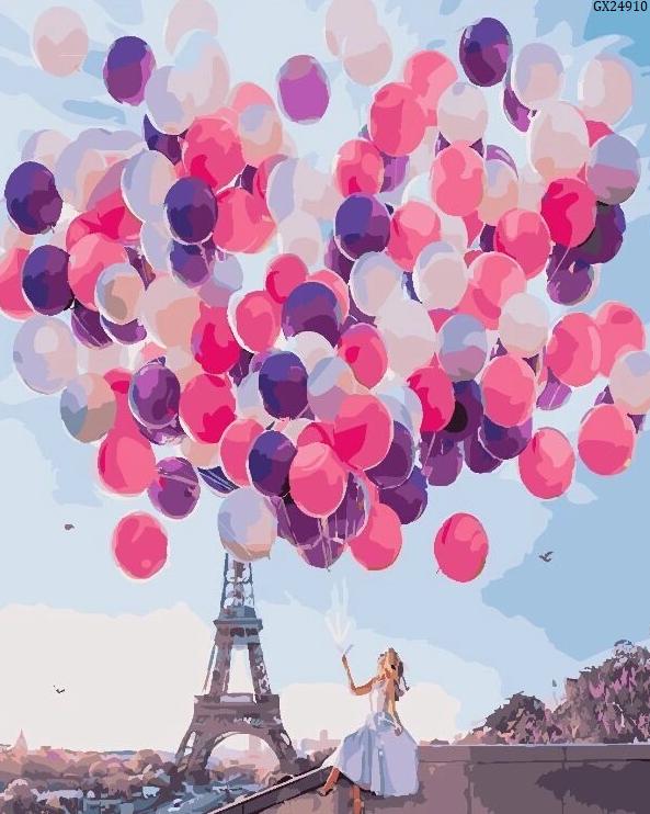 """Картина по номерах """"Париж в кульках"""" (GX24910)"""