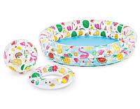Детский надувной  бассейн Фрукты с кругом и надувным мячем  Intex 59460NP
