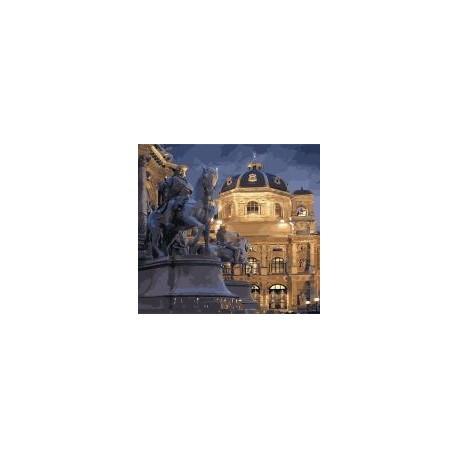 """Набор для росписи по номерам Идейка """"Городской пейзаж. Вена ночью"""", 40*50см, КНО3538"""
