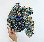 Палантин из вискозы 10716-16, павлопосадский палантин из вискозы, размер 80х200, фото 9