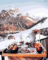 """Картина по номерах """"Сніданок біля Швейцарських гір"""" (GX26239)"""